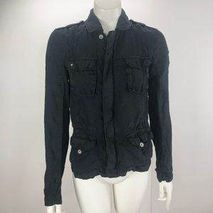 Michael Stars XS Linen Shirt Faded Material